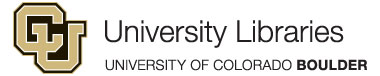 [University of Colorado Libraries Logo]
